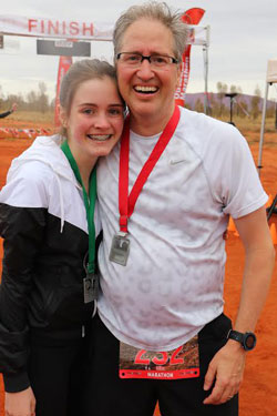 Mike Silvio with his daughter in Australia.