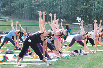 Yoga at camp