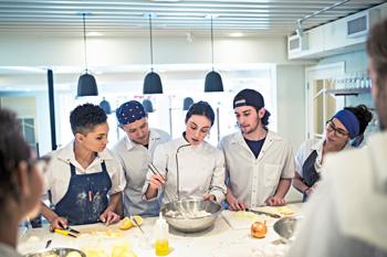 Cooking school class