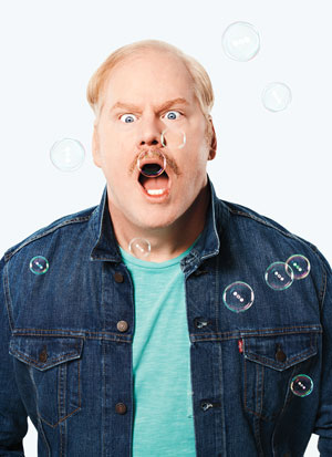 Jim Gaffigan with bubbles