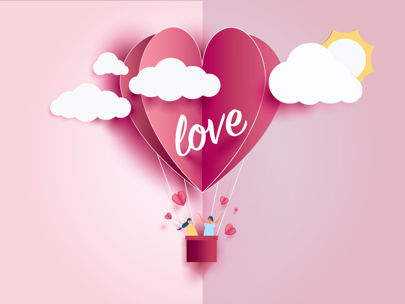 Heart Love Balloon