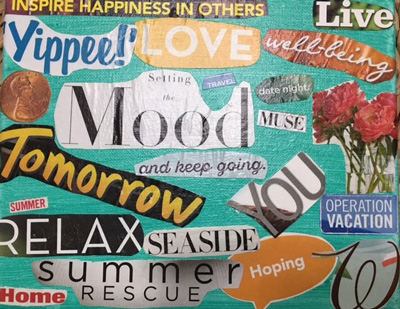 Live Happy mood board