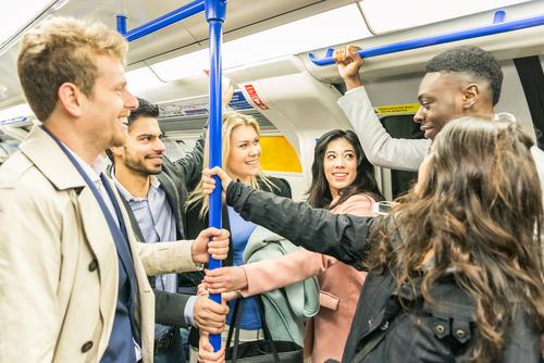 People on London Tube