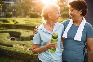 Two fit older women