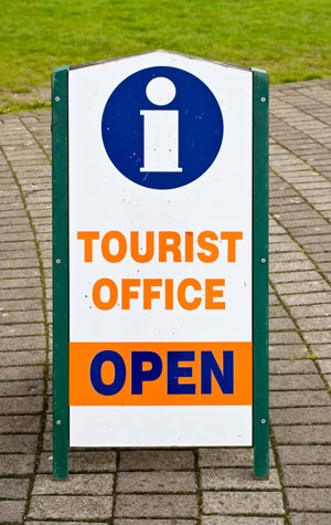Tourist Office sign