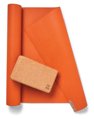 Yoga mat and block