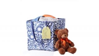 Teddy bear and box