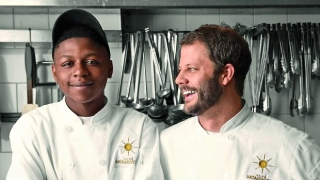 Intern Malik Runnels and Chef Chad Houser