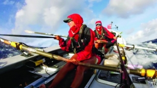 Coxless Crew Rowing the Pacific