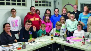 Art class for special needs students