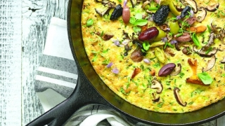 Quinoa-Mushroom Frittata With Fresh Herbs