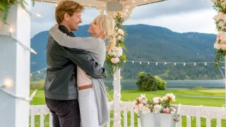 Jack Wagner and co-star in Wedding March 3