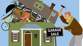 House having garage sale