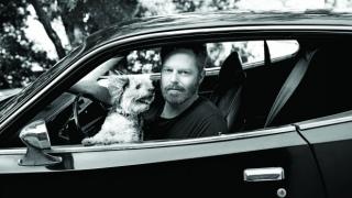 Jesse Tyler Ferguson with his dog