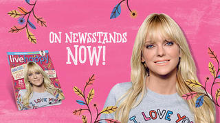 Anna Faris on the cover of Live Happy