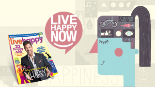 Illustration with Live Happy's latest magazine issue