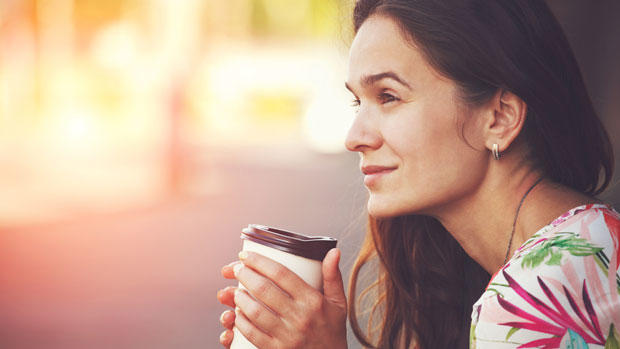 Woman with morning coffee.