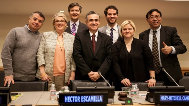 Happiness panel at the United Nations
