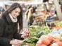 Woman at a farmers' market
