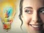 Woman with idea lightbulb