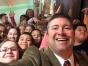 Superintendent Aaron Sadoff with students