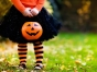 Little girl in Halloween costume.