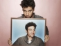 Josh Radnor holding picture of himself.