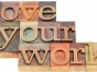 love your work block letters