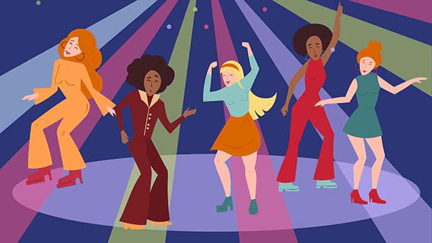 Retro dancers get down