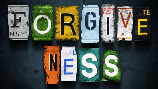 The word Foregiveness spelled out