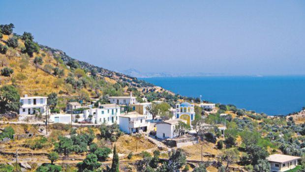 Greek landscape with ocean