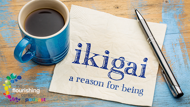 Paper with Ikigai definition on it