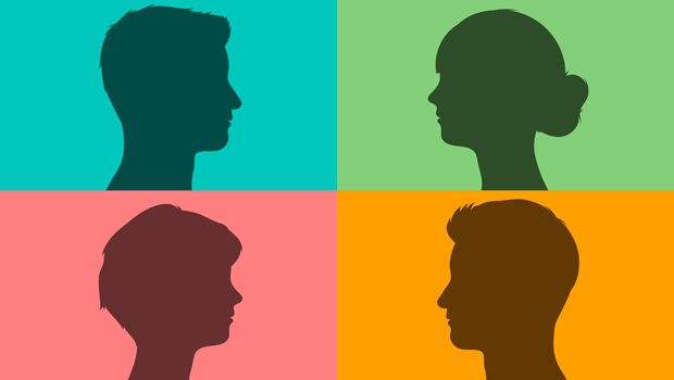 Four people in profile