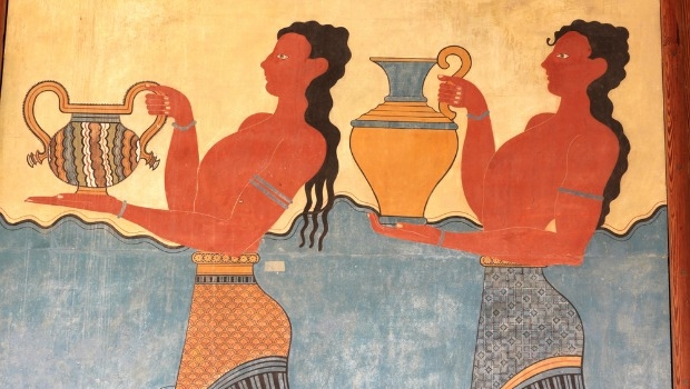 Image of ancient Greek people bearing urns