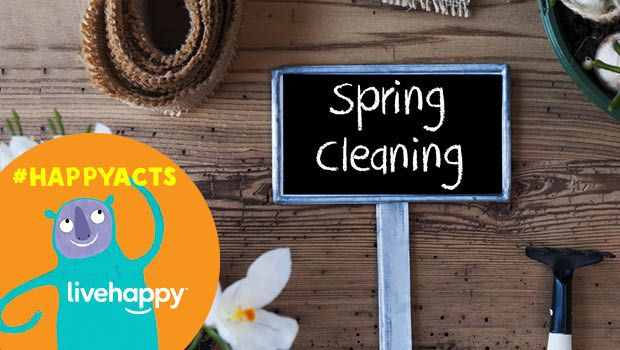 May's Happy Act is spring cleaning.