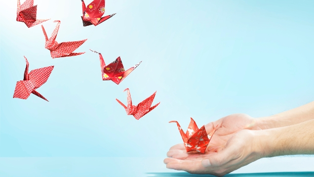 Origami swans