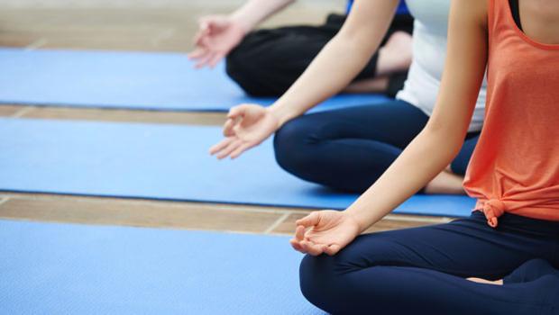Yoga class.