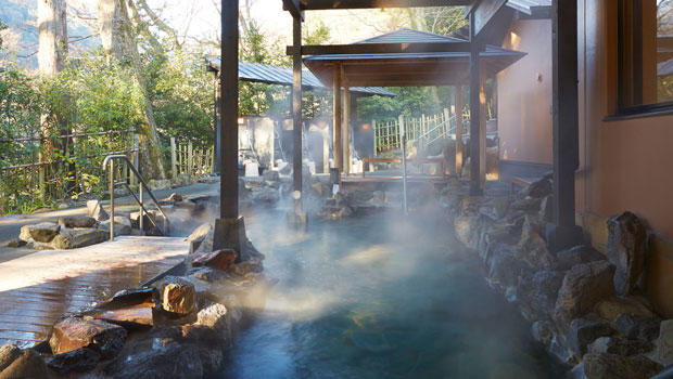 Japanese hot spring.