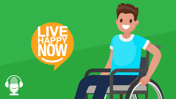 A man sitting in a wheelchair