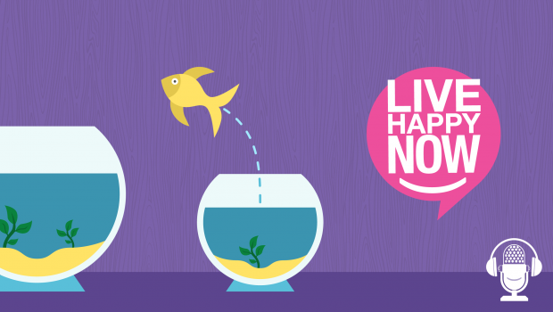 A Fish and two fish bowls graphic
