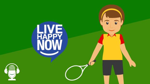 Girl holding a tennis racket