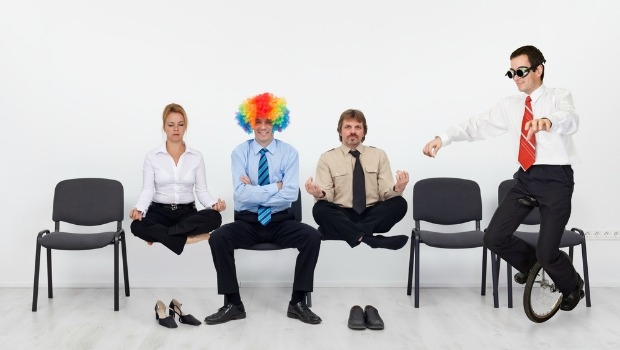 Funny guys in an office