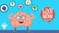 Illustration of a strong, positive brain