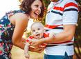 Happy parents with baby.