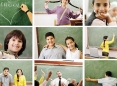 School children collage