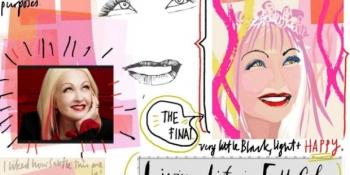 Drawing Cyndi Lauper