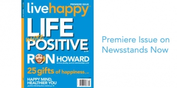 Live Happy Magazine Premiere Issue Cover Image