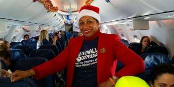 Flight attendant for the Snowball Express