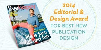 Live Happy wins Best New Publication Design