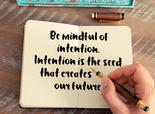 Quote about Intention